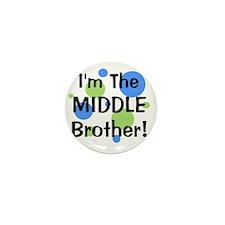 imthemiddlebrother_greenbluecircles Mini Button