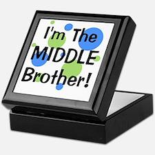 imthemiddlebrother_greenbluecircles Keepsake Box