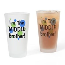 imthemiddlebrother_greenbluecircles Drinking Glass
