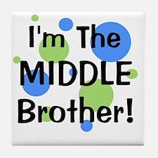 imthemiddlebrother_greenbluecircles Tile Coaster