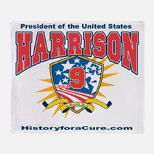 President William H Harrison Throw Blanket