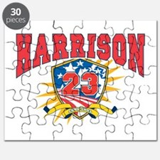 President Benjamin Harrison dark shirt Puzzle