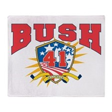President George H W Bush.41. dark s Throw Blanket