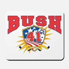 President George H W Bush.41. dark shirt Mousepad