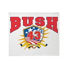 President George W Bush.43.dark shir Throw Blanket