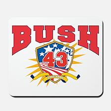 President George W Bush.43.dark shirt Mousepad