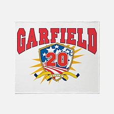 President James Garfield.dark shirt Throw Blanket
