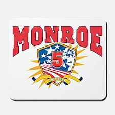President James Monroe dark shirt Mousepad