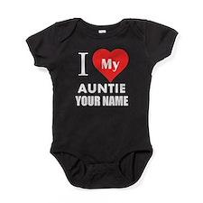 I Heart My Auntie (Custom) Baby Bodysuit