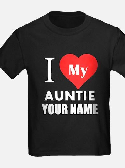 I Heart My Auntie (Custom) T-Shirt