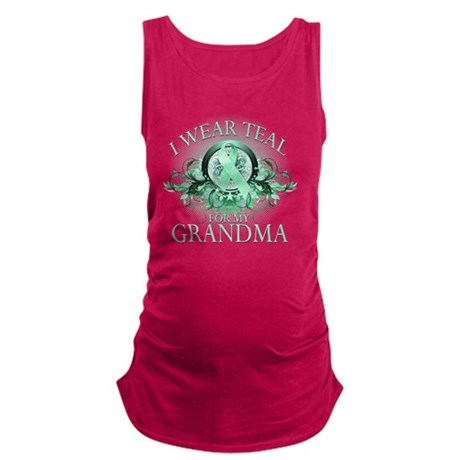 I Wear Teal for my Grandma (flo Maternity Tank Top
