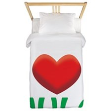 2-i love hula white Twin Duvet