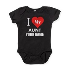 I Heart My Aunt (Custom) Baby Bodysuit