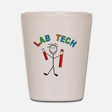 LAB TECH STICKMAN Shot Glass