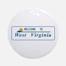 Welcome to West Virginia - USA Ornament (Round)