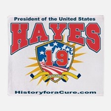 President Rutherford B Hayes Throw Blanket