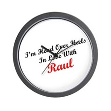 In Love with Raul Wall Clock