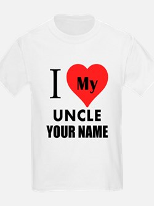 I Heart My Uncle (Custom) T-Shirt