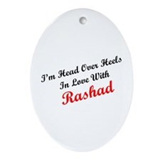 In Love with Rashad Oval Ornament