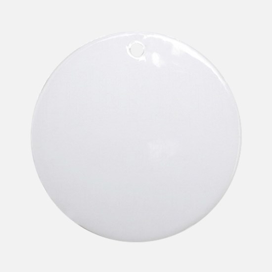Chorkie-University-dark Round Ornament