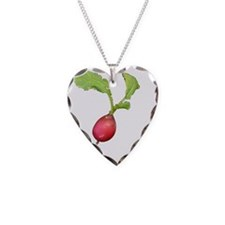 Radish Necklace Heart Charm