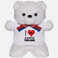 I Heart My Auntie (Custom) Teddy Bear