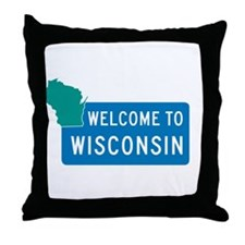 Welcome to Wisconsin - USA Throw Pillow