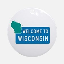 Welcome to Wisconsin - USA Ornament (Round)