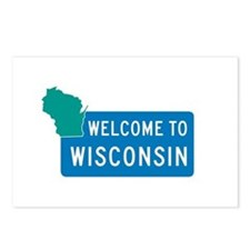 Welcome to Wisconsin - USA Postcards (Package of 8