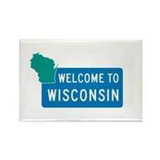 Welcome to Wisconsin - USA Rectangle Magnet