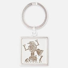 2-robotV2 Square Keychain