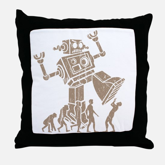 2-robotV2 Throw Pillow