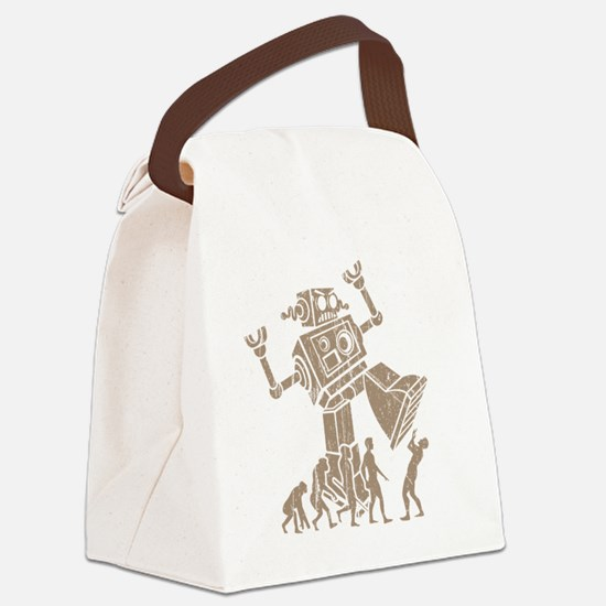 2-robotV2 Canvas Lunch Bag