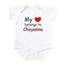 My heart belongs to cheyanne Infant Bodysuit