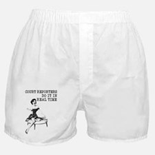 Court Reporters Do It In Real Time Boxer Shorts
