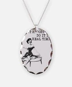 Court Reporters Do It In Real  Necklace