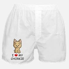 I-Love-My-Chorkie-Cartoon Boxer Shorts