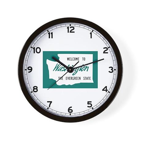 Welcome to Washington - USA Wall Clock