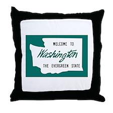 Welcome to Washington - USA Throw Pillow
