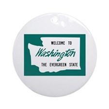 Welcome to Washington - USA Ornament (Round)