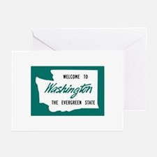 Welcome to Washington - USA Greeting Cards (Packag