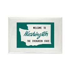 Welcome to Washington - USA Rectangle Magnet