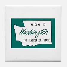 Welcome to Washington - USA Tile Coaster