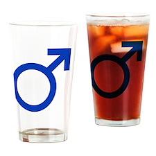 Male Symbol 7x7 Drinking Glass
