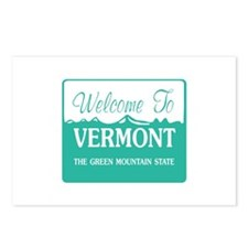 Welcome to Vermont - USA Postcards (Package of 8)