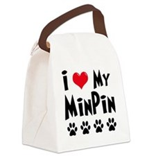 I-Love-My-Min-Pin Canvas Lunch Bag