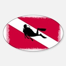 Scuba and Flag Decal