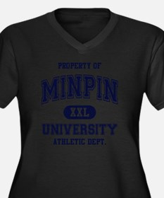 Min-Pin-Univ Women's Plus Size Dark V-Neck T-Shirt