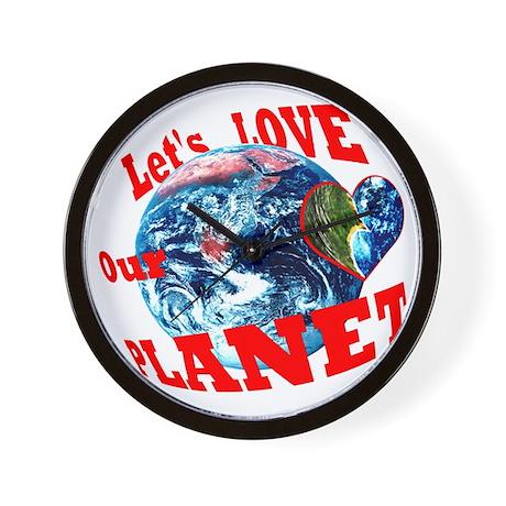 Loving a Planet? Wall Clock