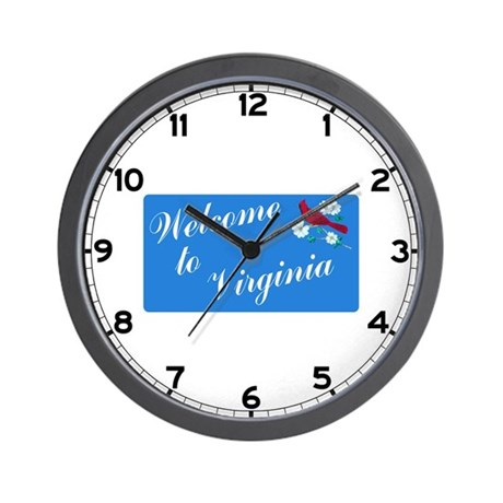 Welcome to Virginia - USA Wall Clock